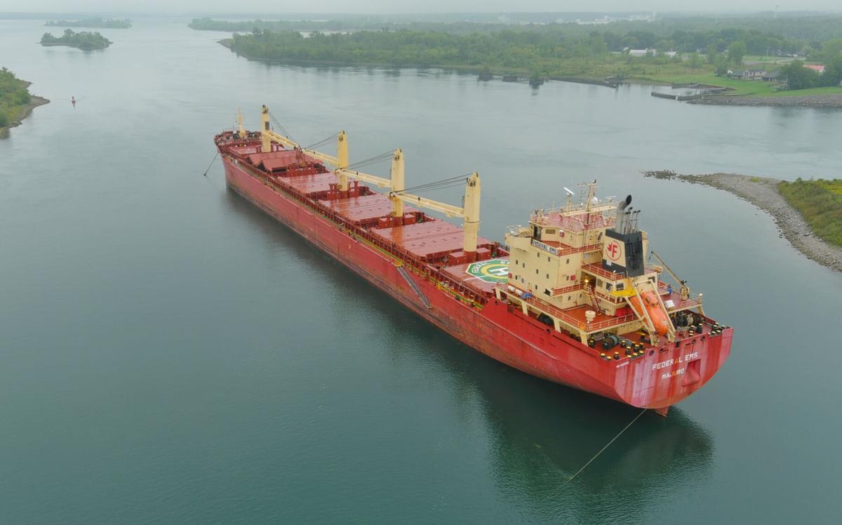Ship loses power near lock
