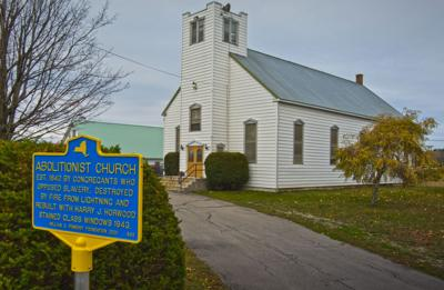 Historical markers honor Lisbon's White Church, Camp Laurent