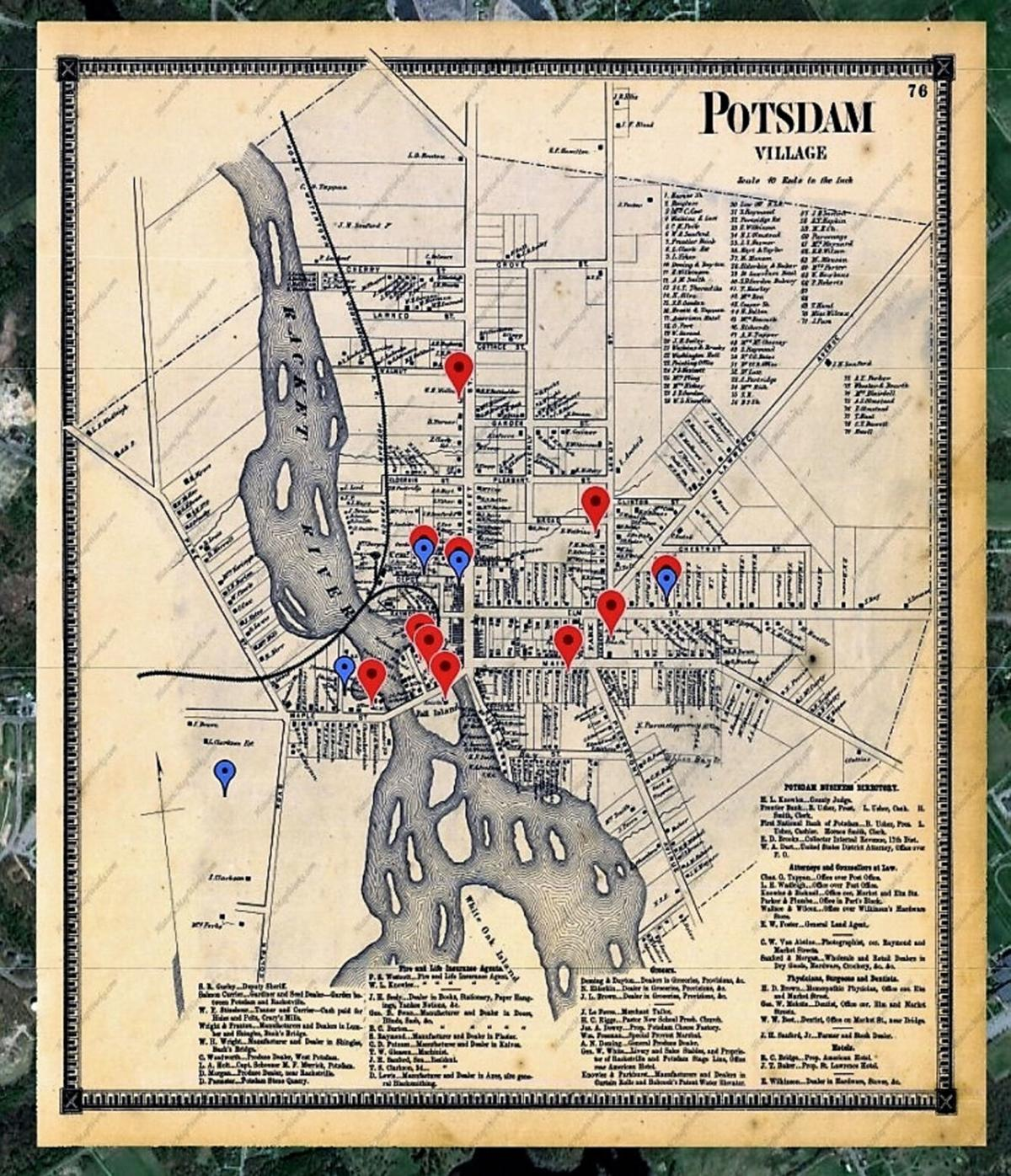 Linchpins to history Potsdam Public Museum creates interactive 1865 map