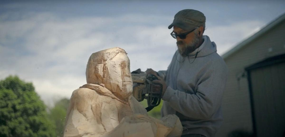 The making of a videographer and the chainsaw-carving video he made