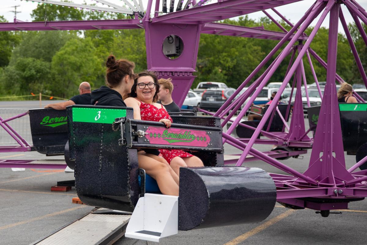Mall parking lot hosts weekend carnival