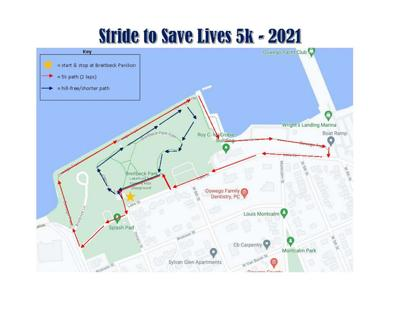 11th Annual STRIDE to Save Lives 5K Walk in Oswego this Saturday