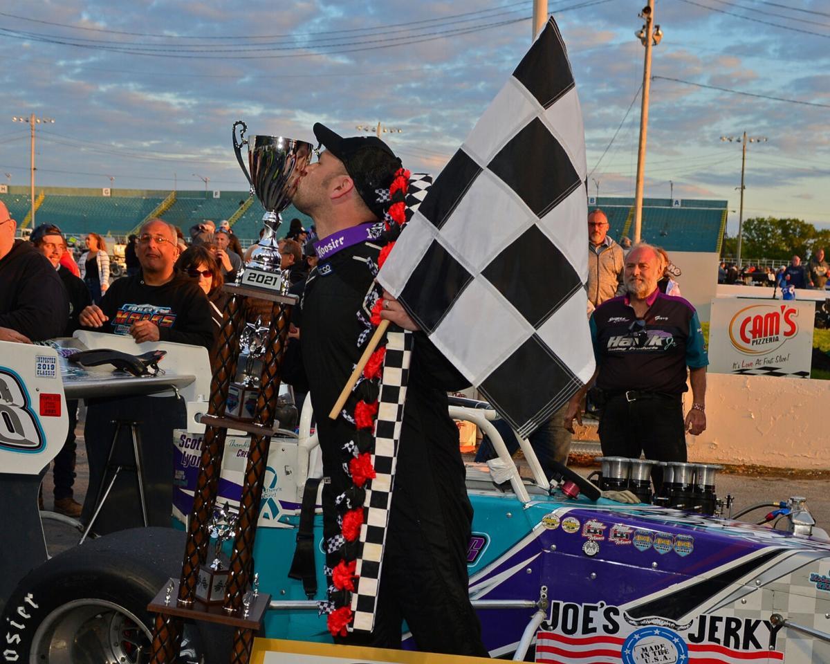 Michael Barnes' breakthrough Oswego Speedway International Classic victory