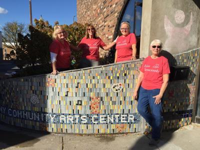 Mosaic art installation makes progress at the Arts Center
