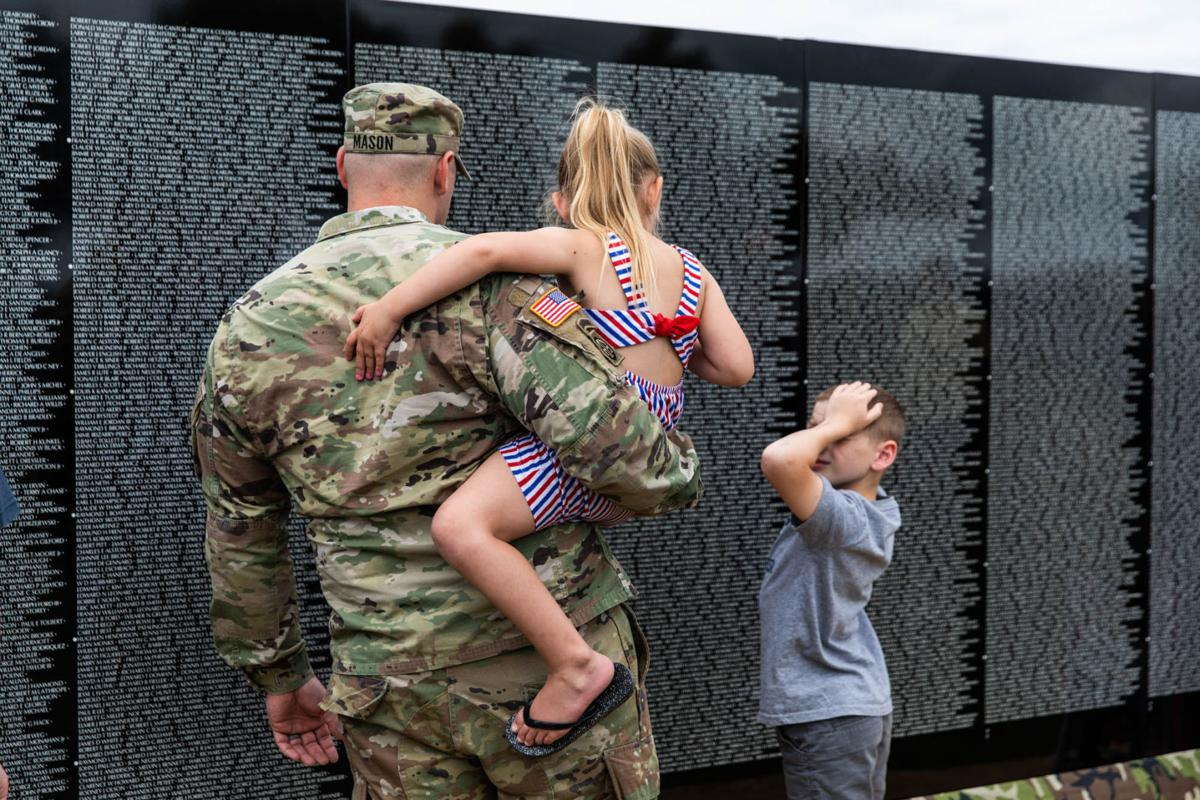 Many share memories and emotions at Moving Wall on Sackets battlefield