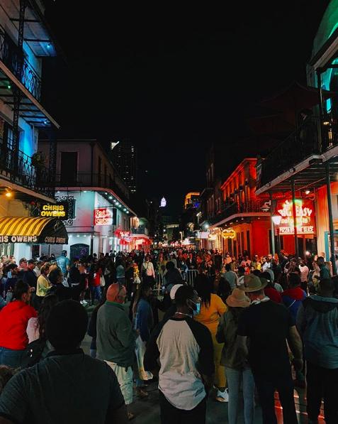 Bourbon Street crowds on Oct. 16