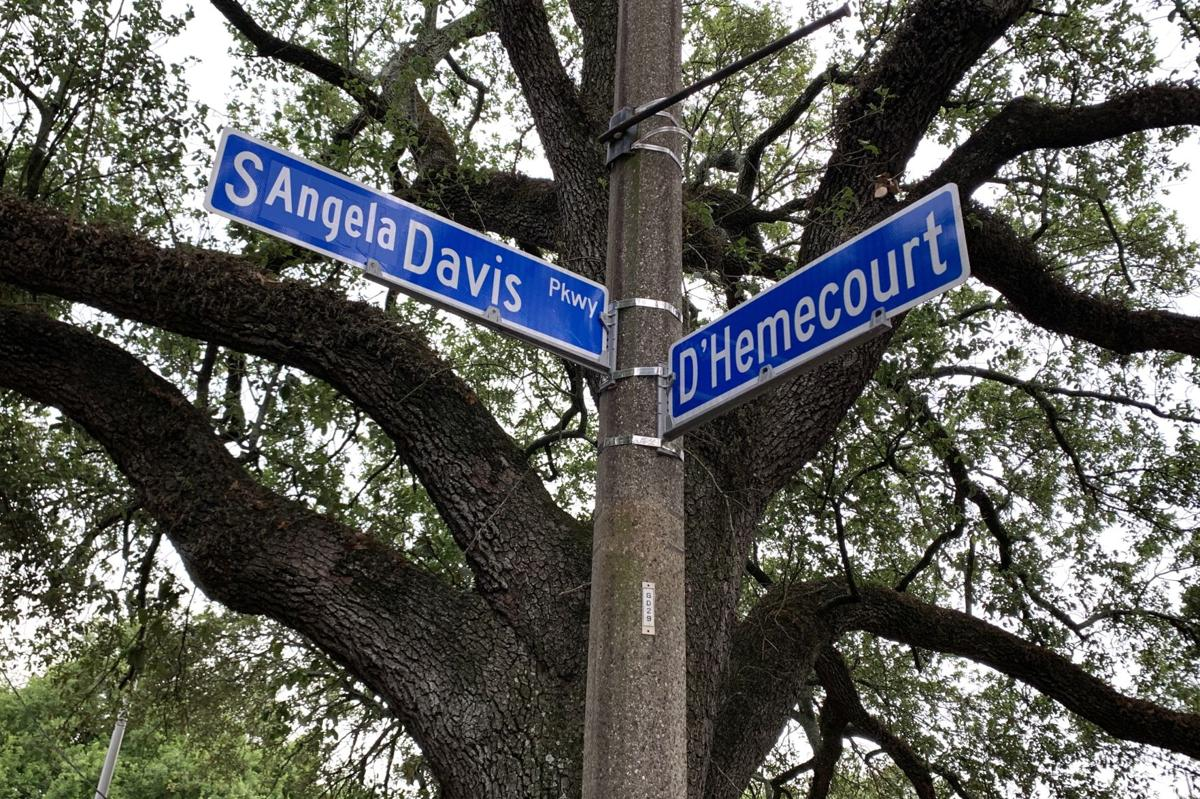 Altered Jeff Davis Parkway signs can be found from the corners of Iberville Street to D'Hemecourt