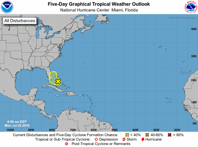 Tropical weather update 072219 morning