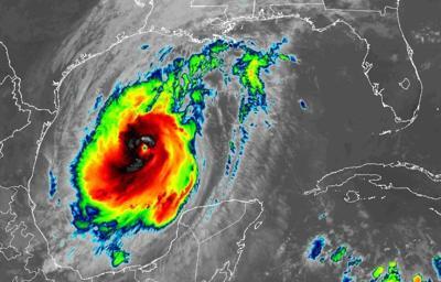 Hurricane Delta 10am Thursday satellite