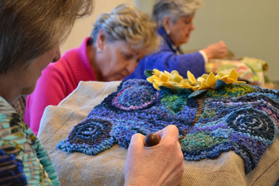 Hooked Rug Pattern Linen Kindness Matters