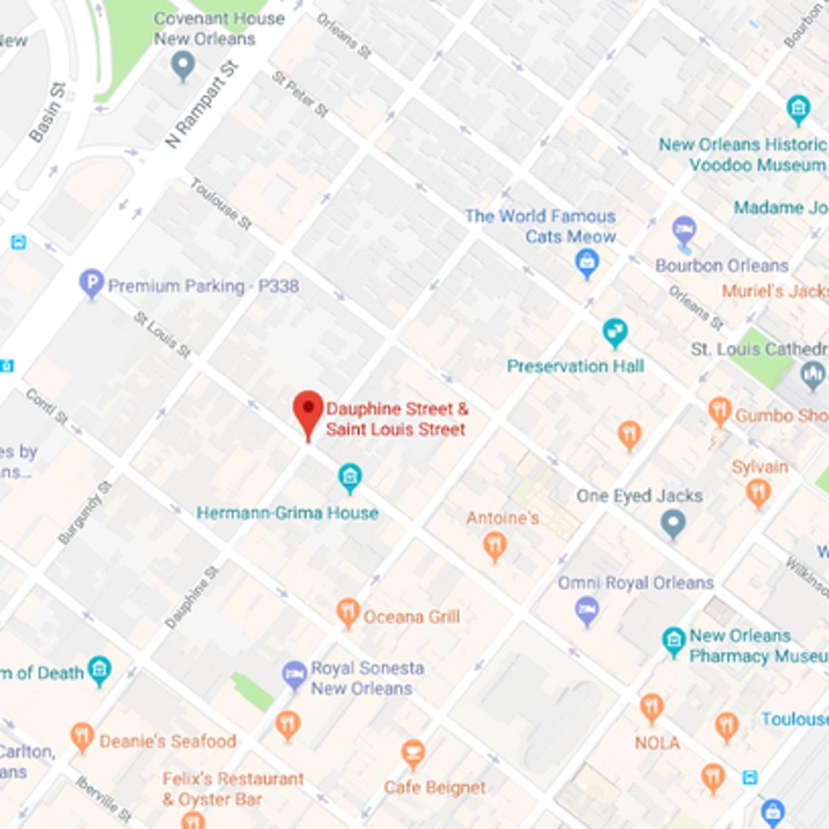 New orleans bar map
