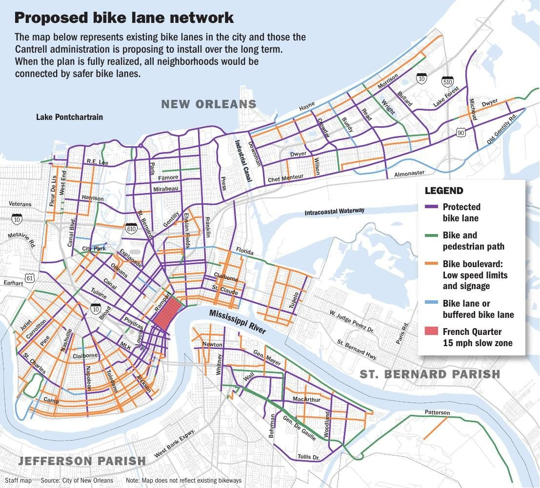 Algiers, CBD would see safer bike lanes soon under new ...