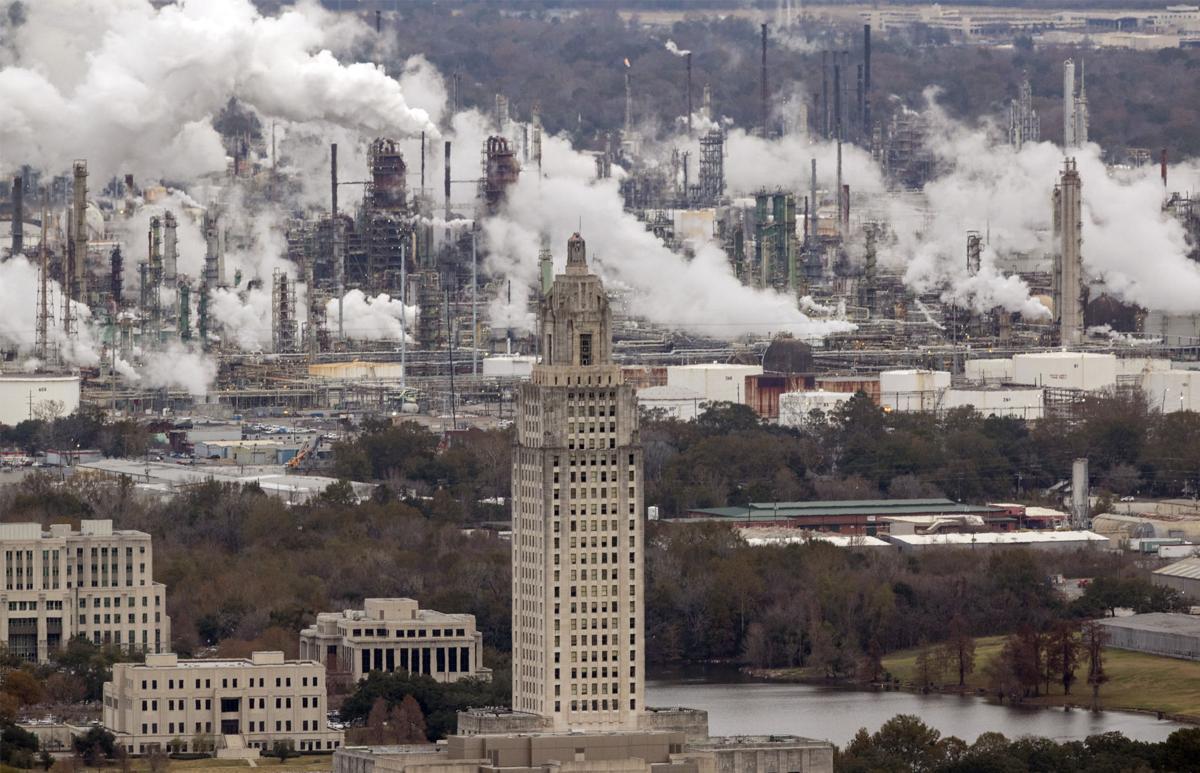 Louisiana Capitol and ExxonMobil Refinery