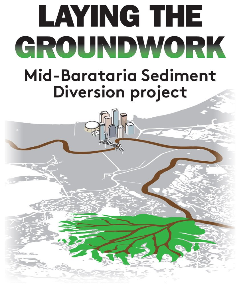 Mid-Barataria Sediment Diversion Logo
