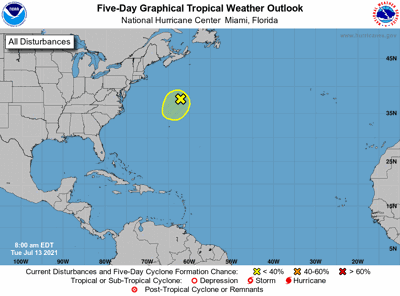 Tropical outlook 7am July 13
