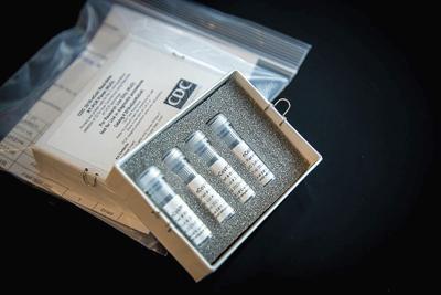 Coronavirus test kit stock file photo