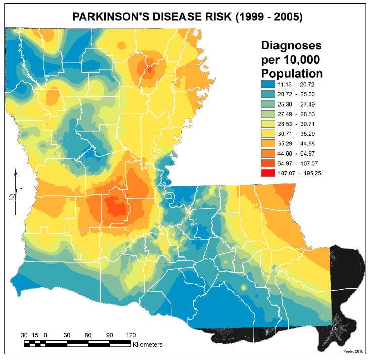 Risk of Parkinson's disease in 1999-2005