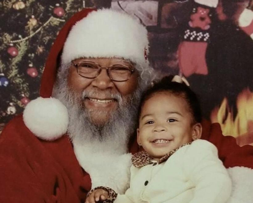Seventh Ward Santa with Chavonne Barthelemy's daughter