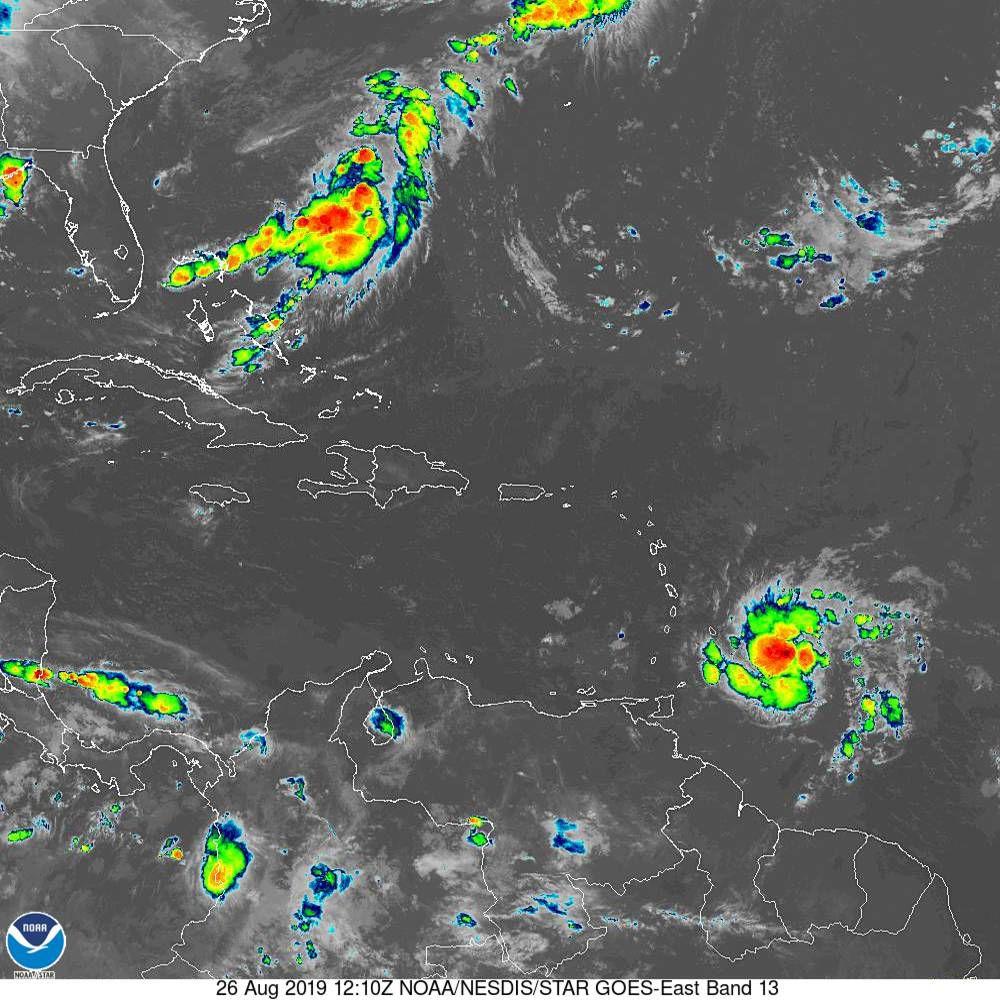 tropical storm dorian 082619 satellite