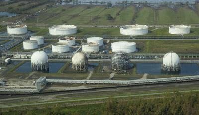 Oily water at Phillips 66 Alliance Refinery