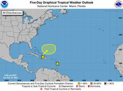 Tropical weather outlook 7am Oct 12