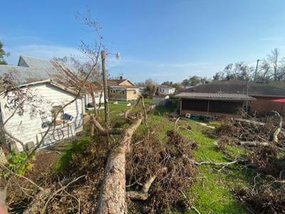 Ida  damage in terrebonne parish