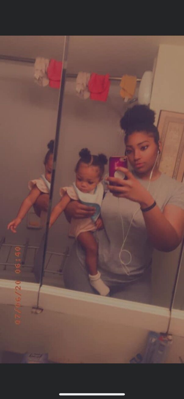 Alliyah Staes with her daughter, Kamila