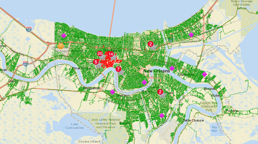 Entergy Outage Map Jan. 11 2020
