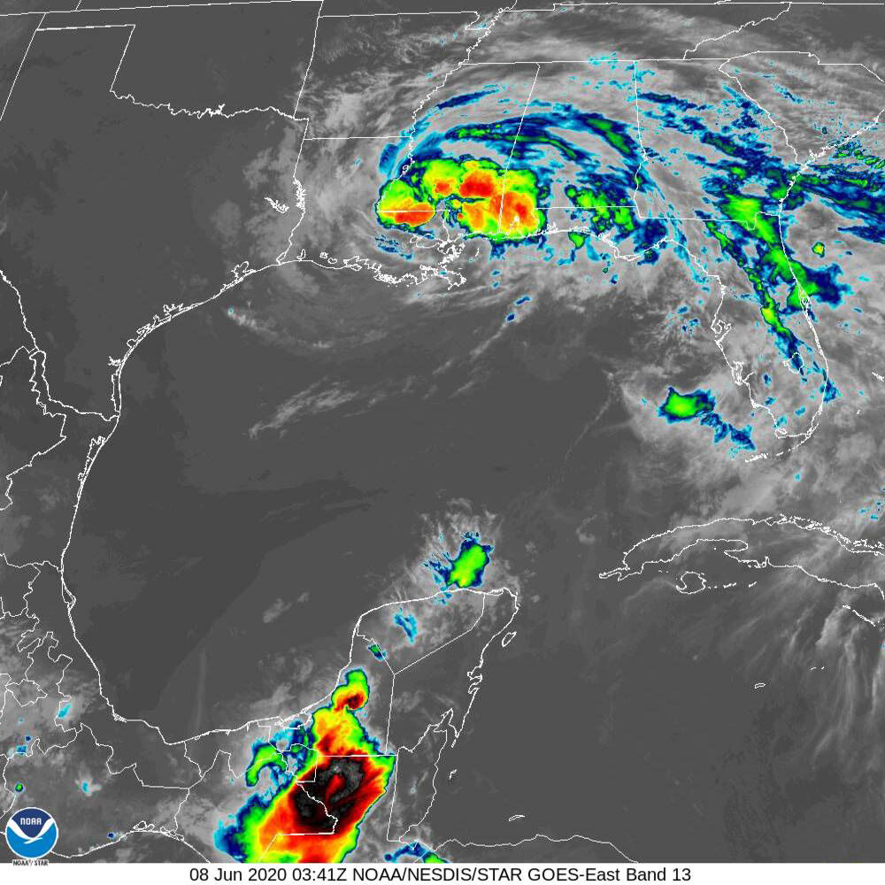 Tropical Storm Cristobal moves northwest