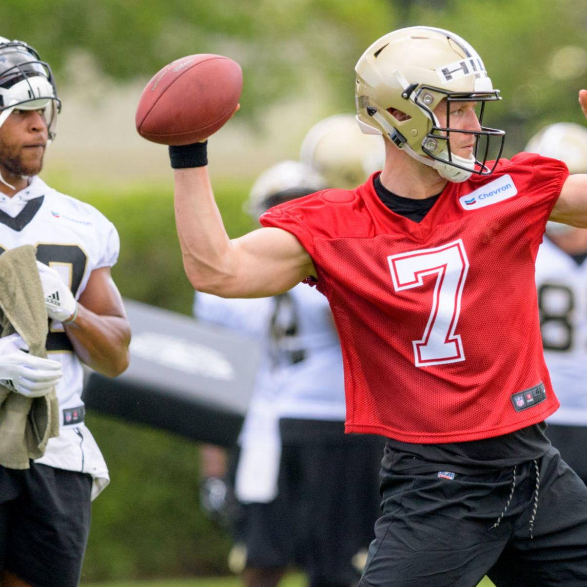 differently 6c85e cb14a Saints QB Taysom Hill wows with strength, speed at OTAs ...