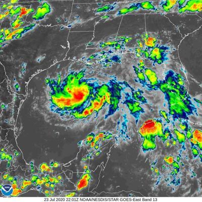 Tropical Depression 8 at 5 p.m. Thursday