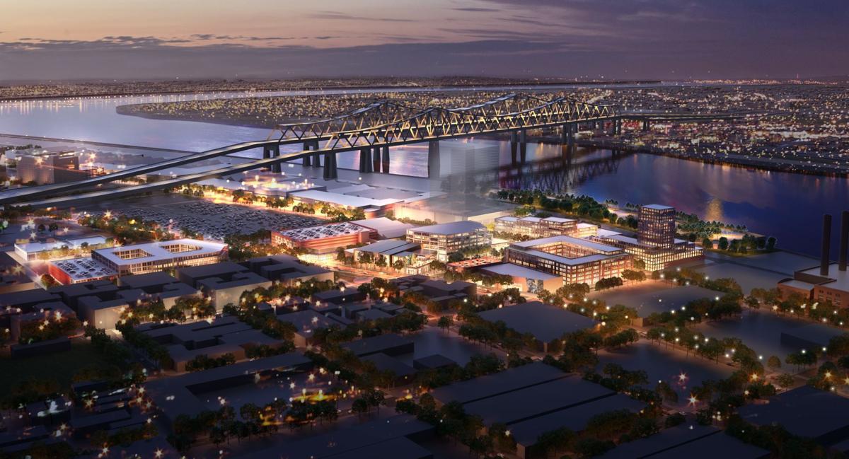 Domain Companies consortium rendering for Seaport New Orleans, full site