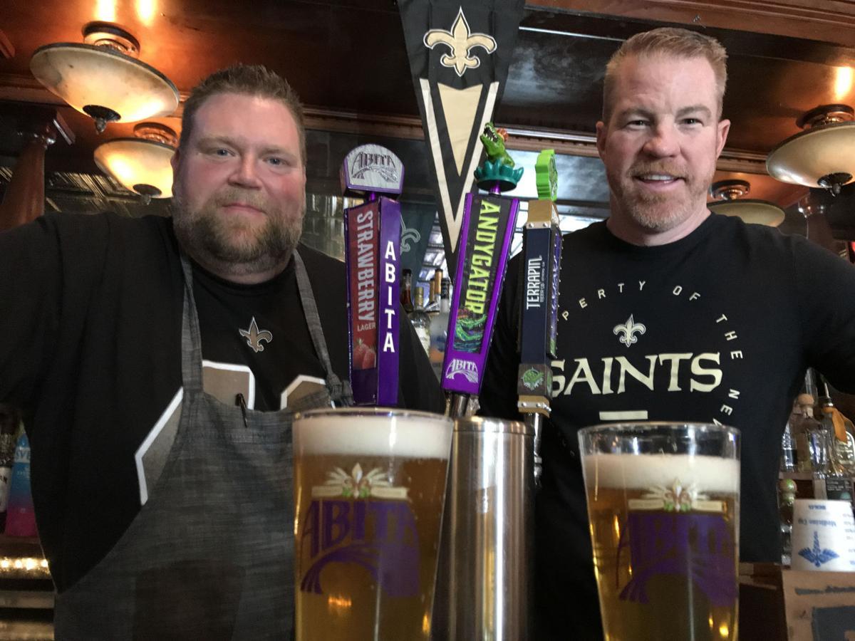 Saints fans in Atlanta