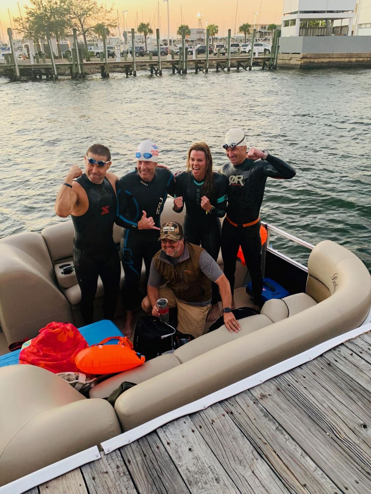Lake swimmers November 16, 2020