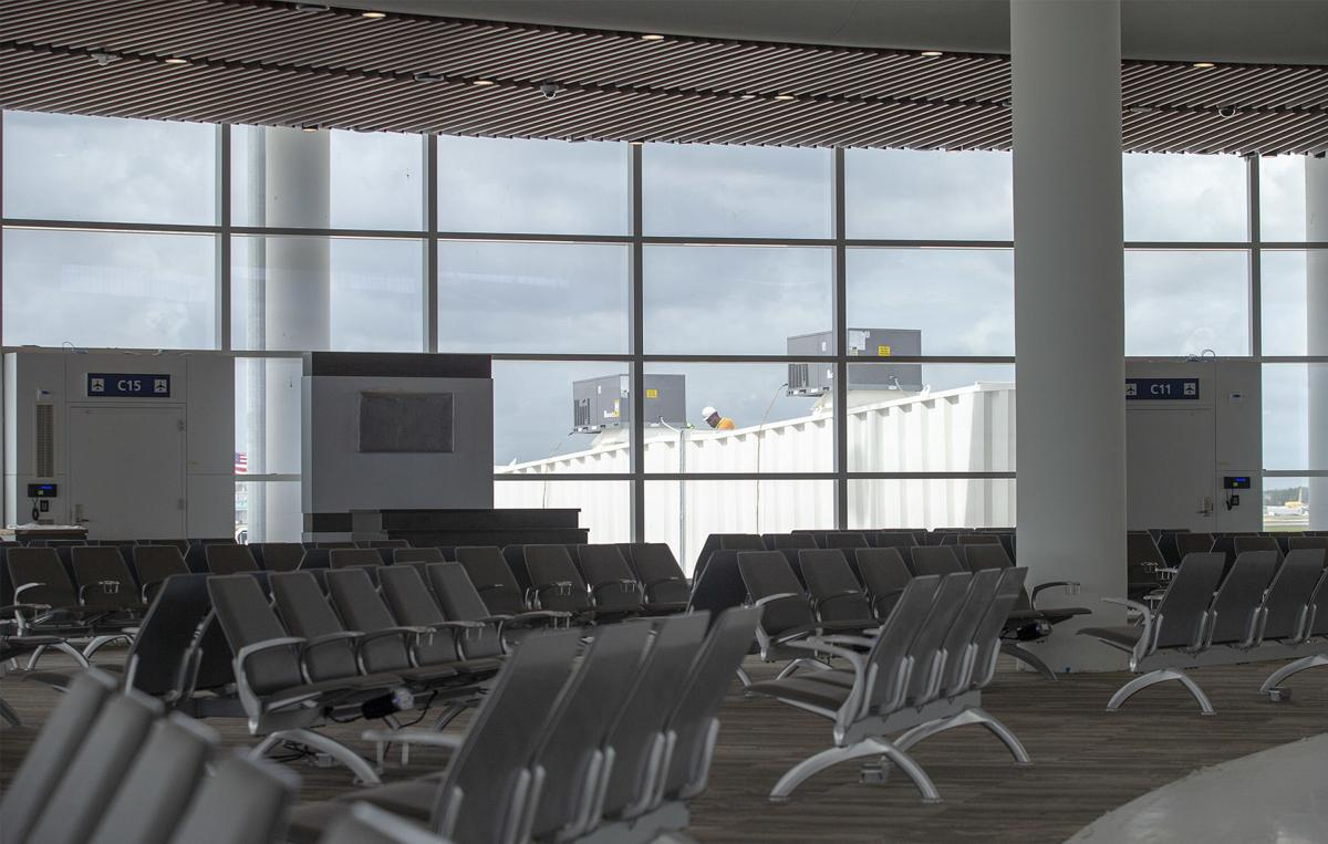 Work continues at New Orleans' new airport terminal as May opening nears