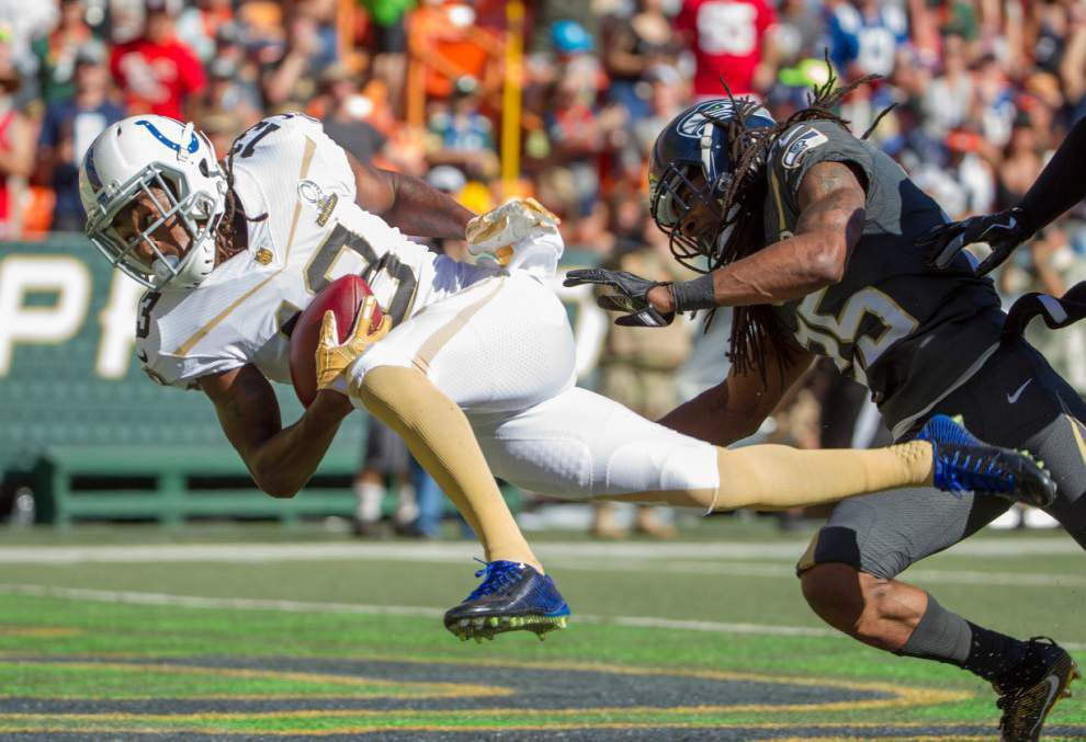 Seahawks' Russell Wilson powers Team Irvin to Pro Bowl victory _lowres