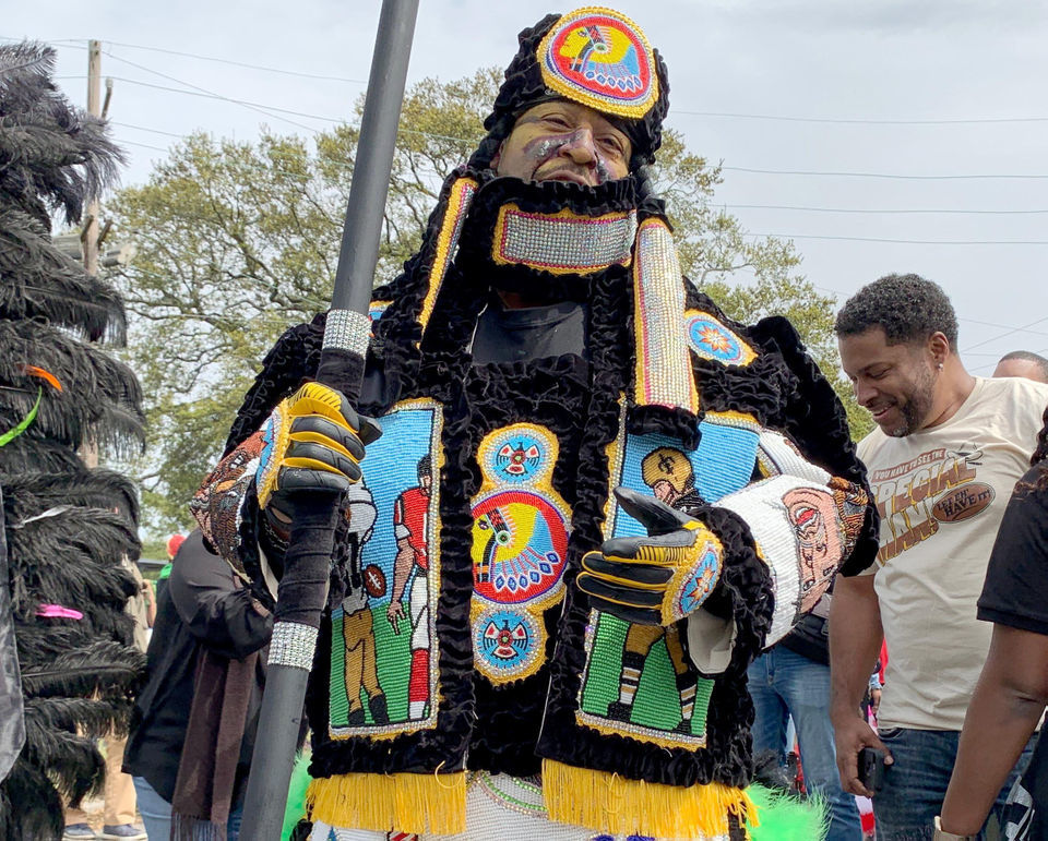 Mardi Gras Indian's 'Ain't Dere No More' suit is a pop masterpiece
