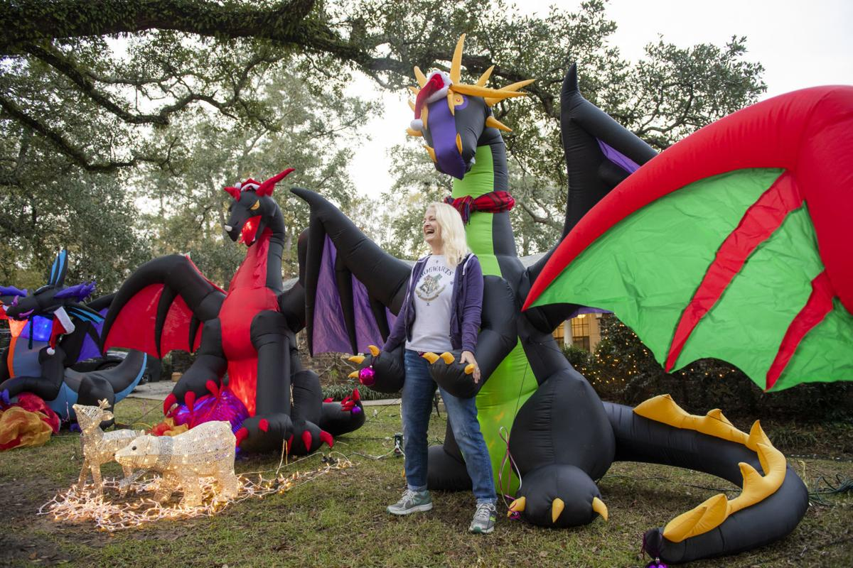 Christmas Dragon.The Story Behind Viral Mandeville Dragon Christmas Display