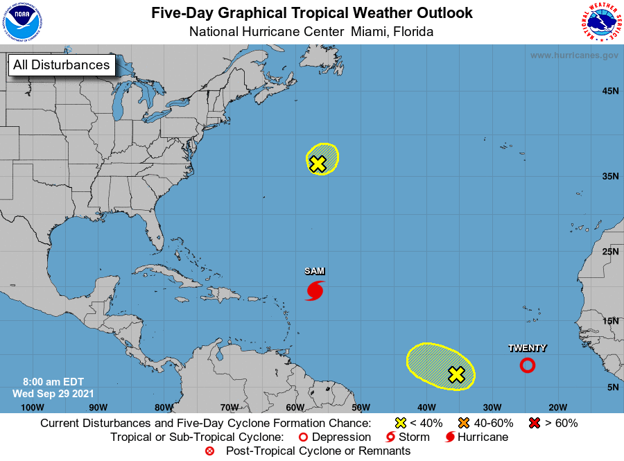 Tropical weather outlook 11 a.m. Sept 29