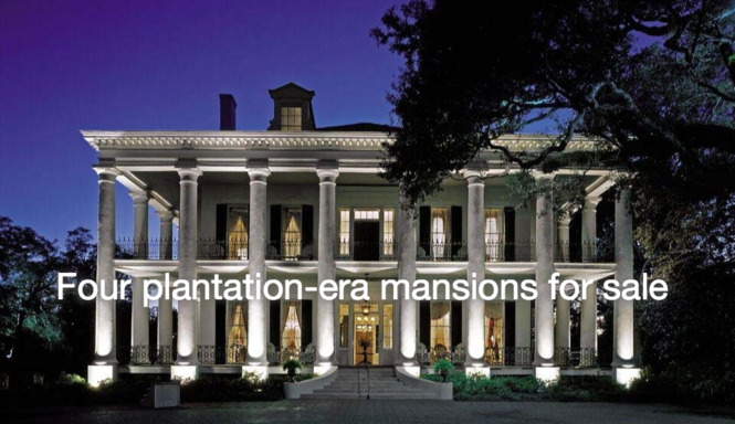 Prime 4 Plantation Era Mansions For Sale Offer Pieces Of Southern Home Remodeling Inspirations Genioncuboardxyz