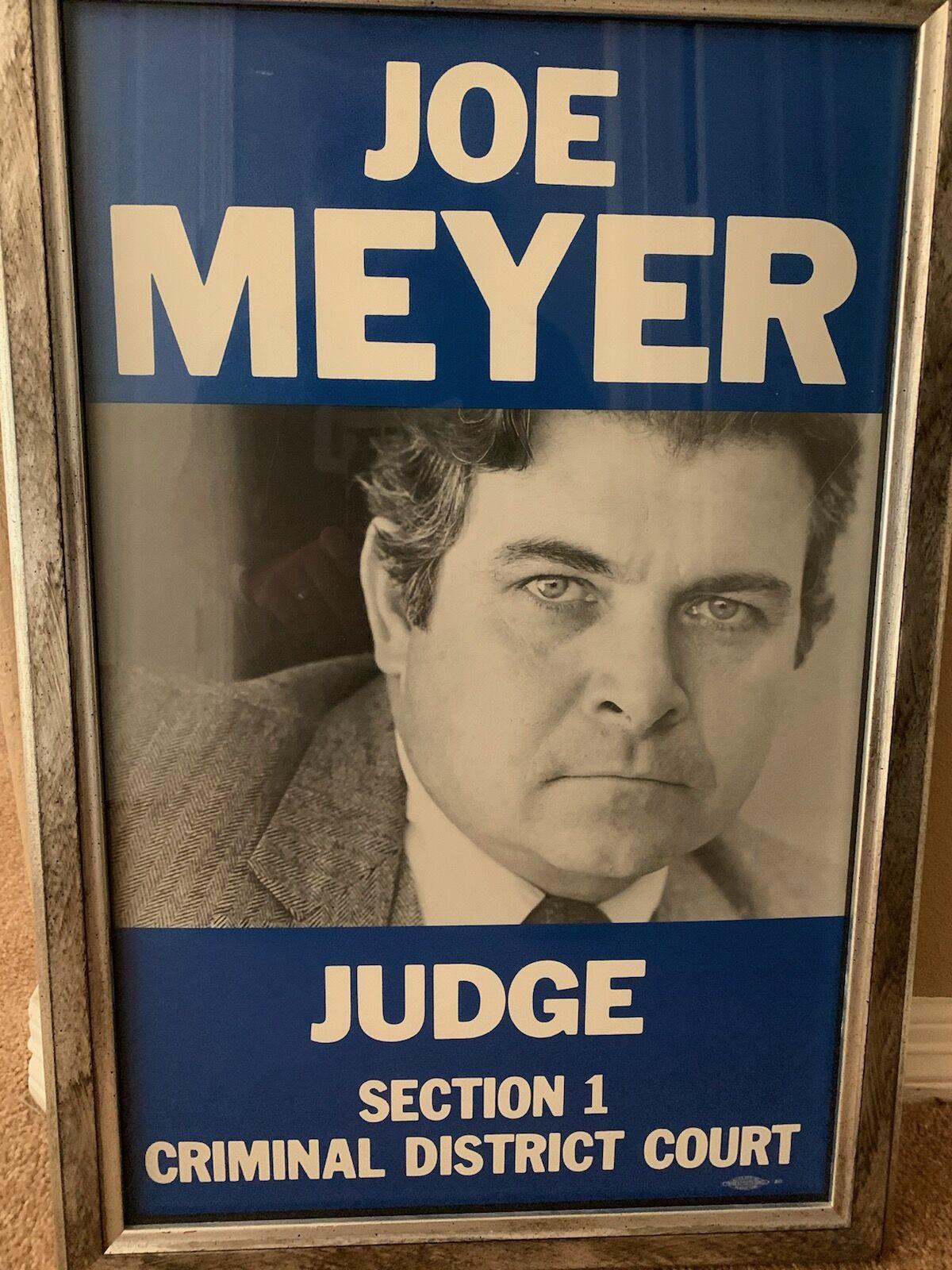 Joe Meyer campaign poster