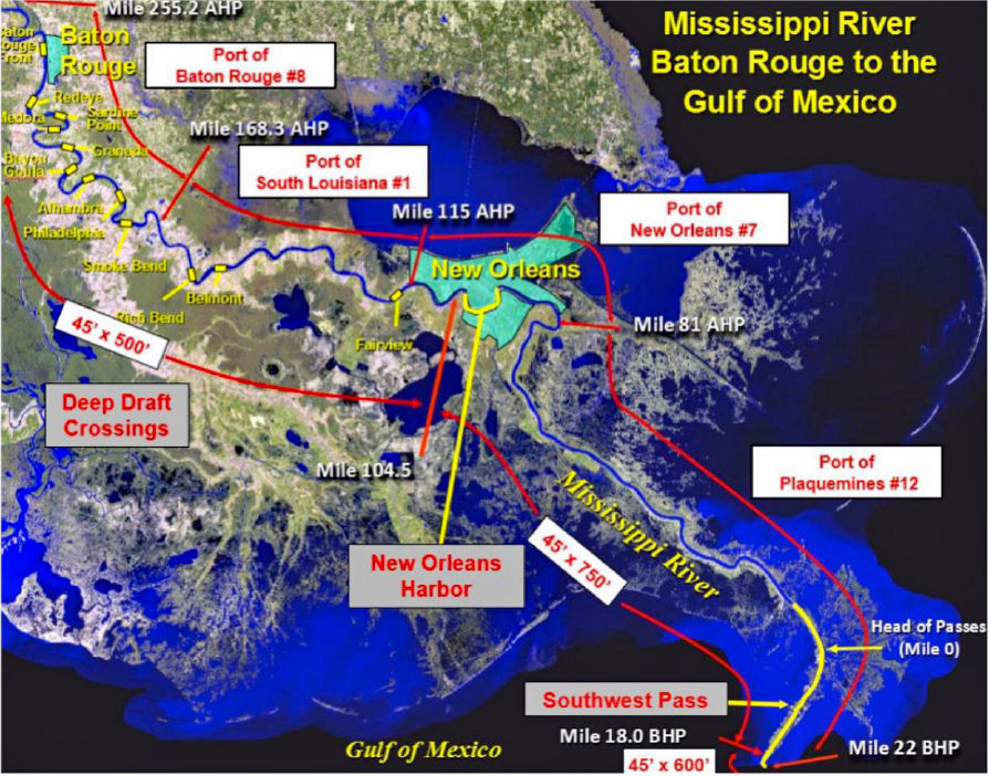 Corps to complete deepening lower Mississippi to 50 feet