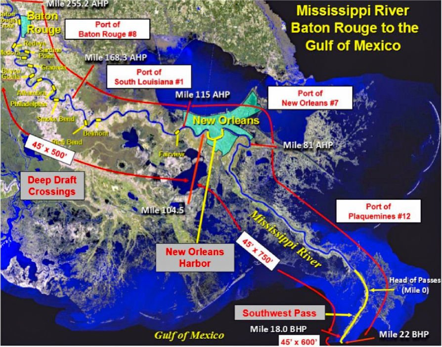 Dredging Mississippi River to 50 feet gets Corps funding