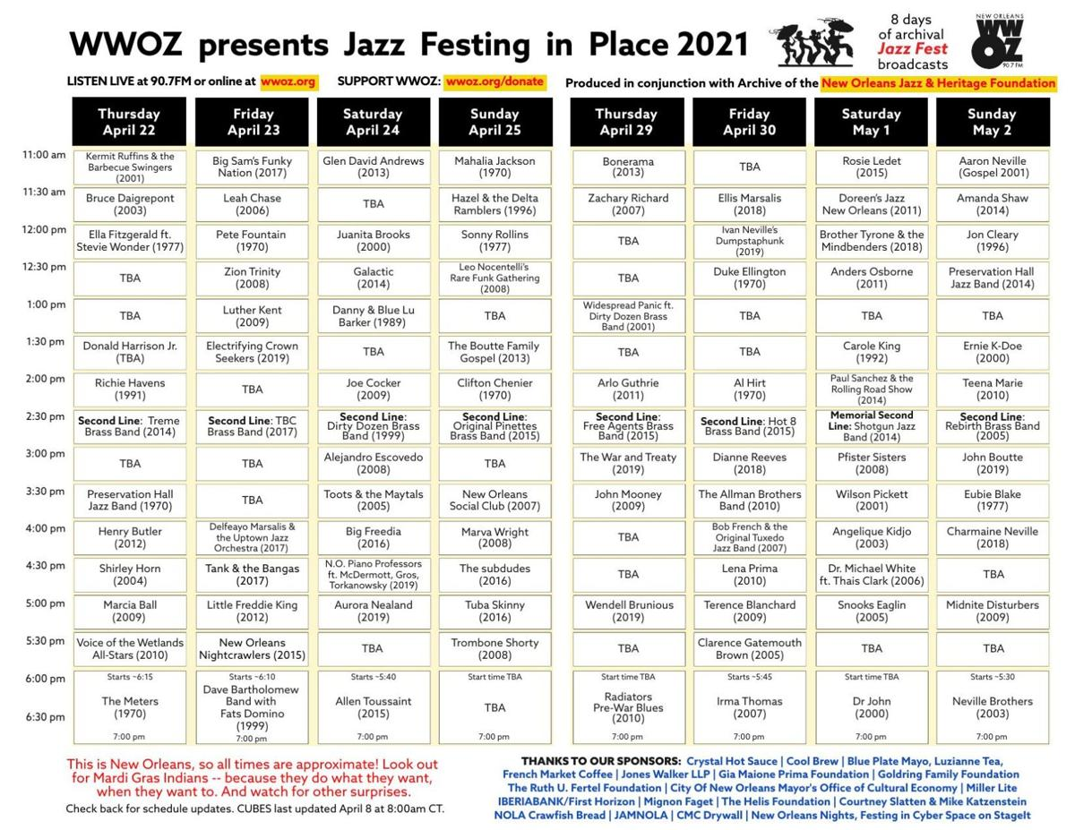 Jazz Festing in Place 2021