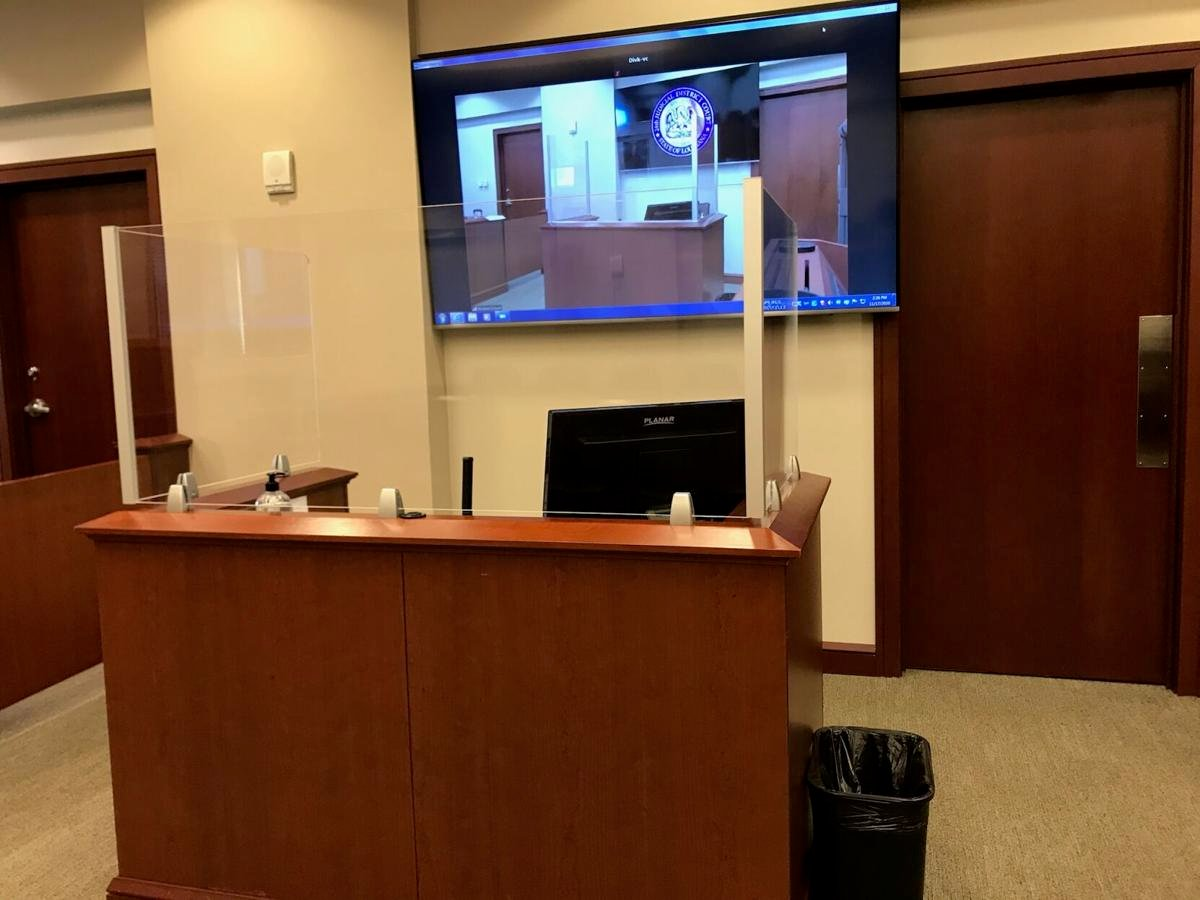 Jefferson Parish court witness stand