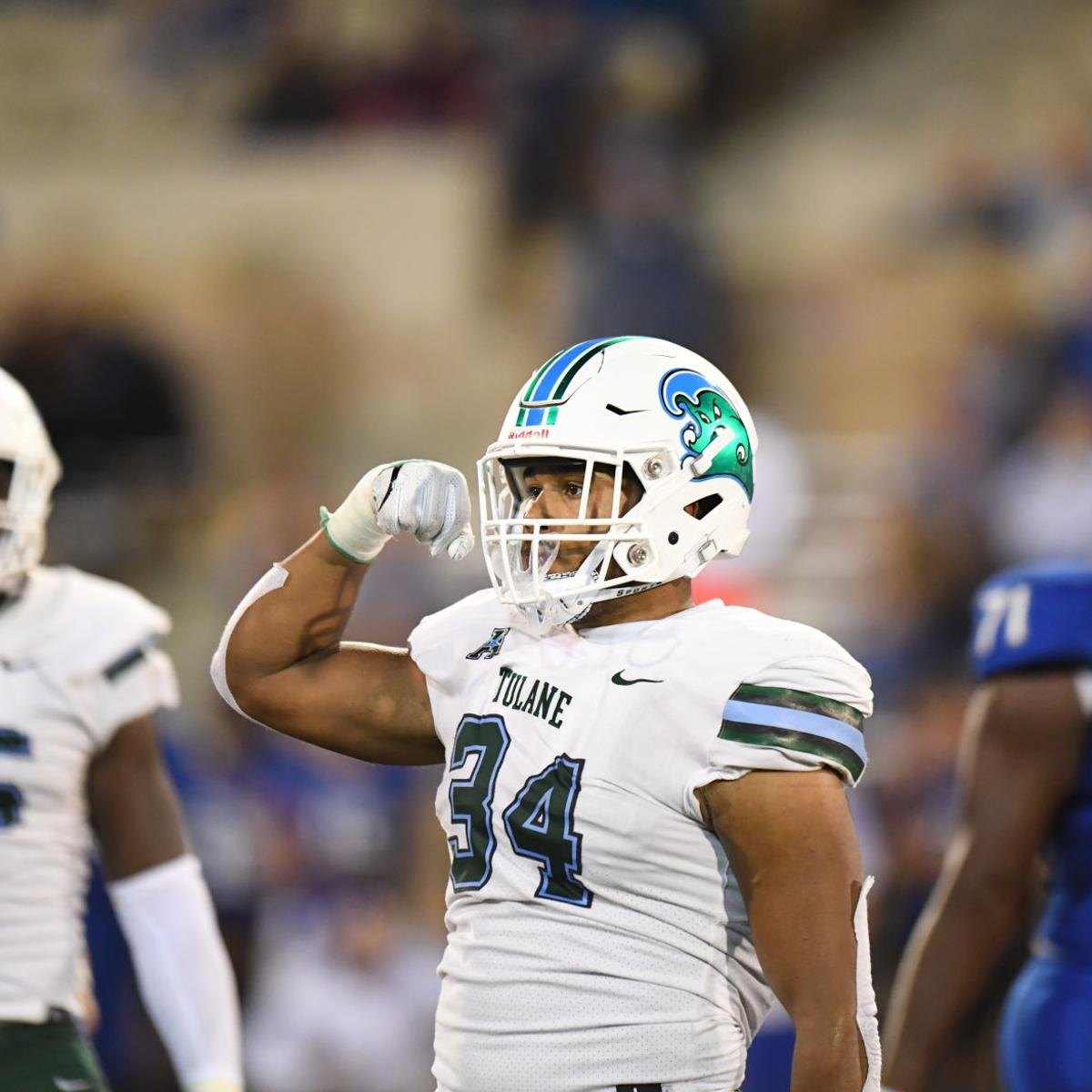 How Tulane's Patrick Johnson emerged as his team's leader in sacks while  playing new position | Tulane | nola.com
