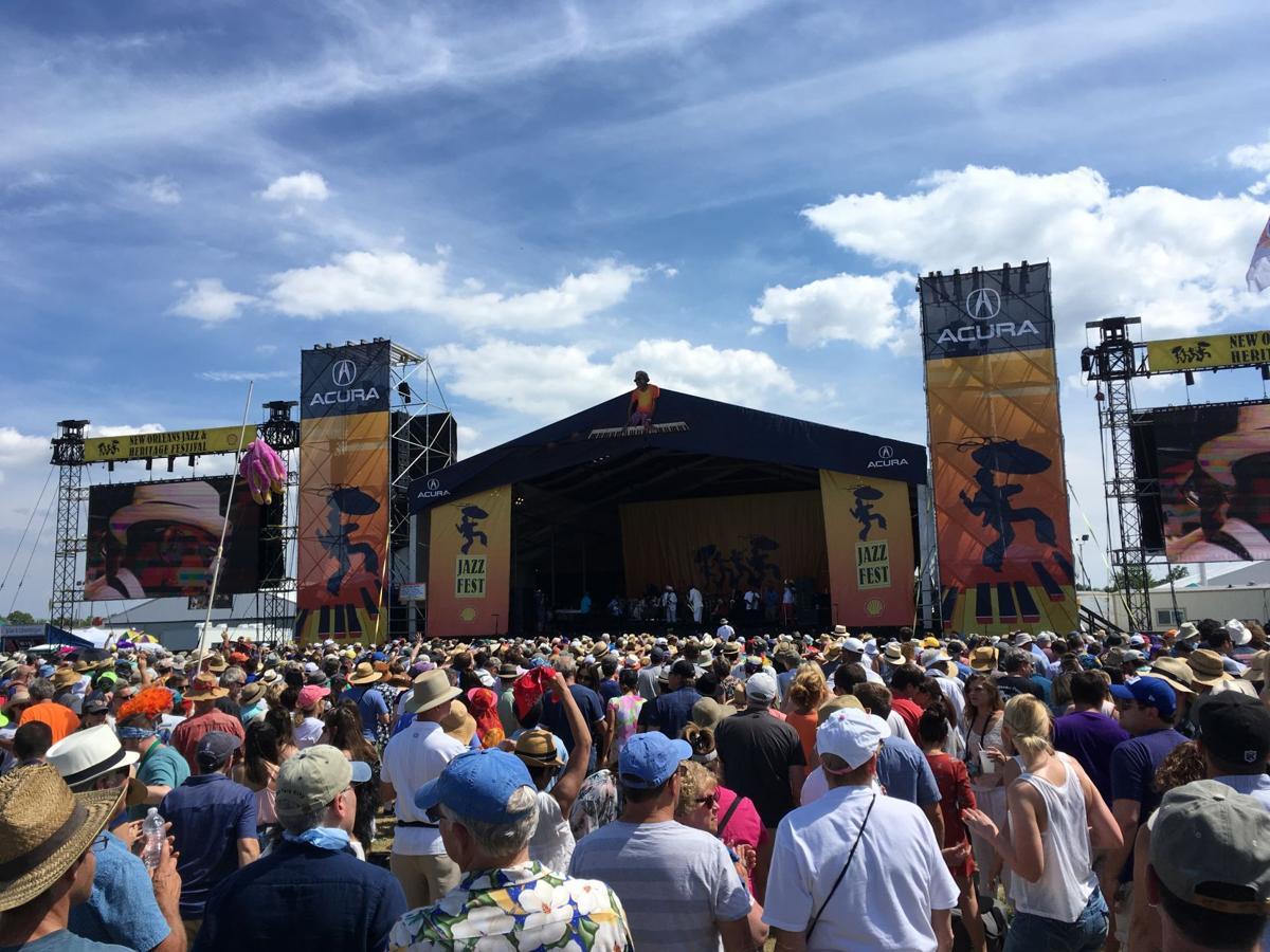 Jazz Fest Acura stage crowd