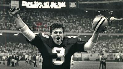 Bobby Hebert, Saints defeat Giants in 1987