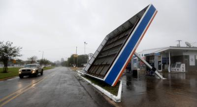 Tropical Storm Barry damage in Berwick, Louisiana