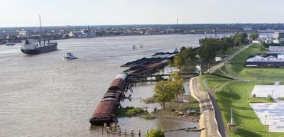 Mississippi River levee in Algiers